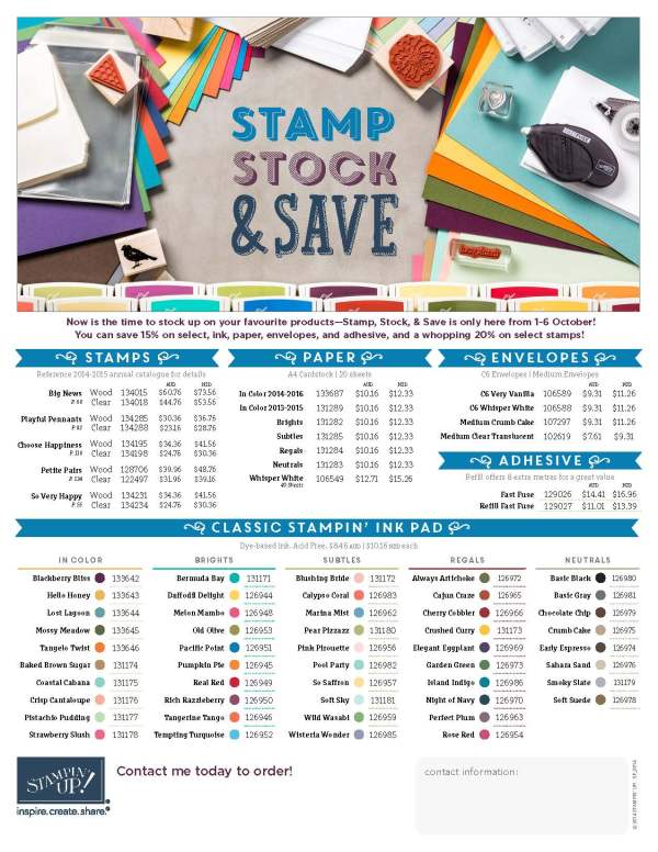 STAMP STOCK & SAVE